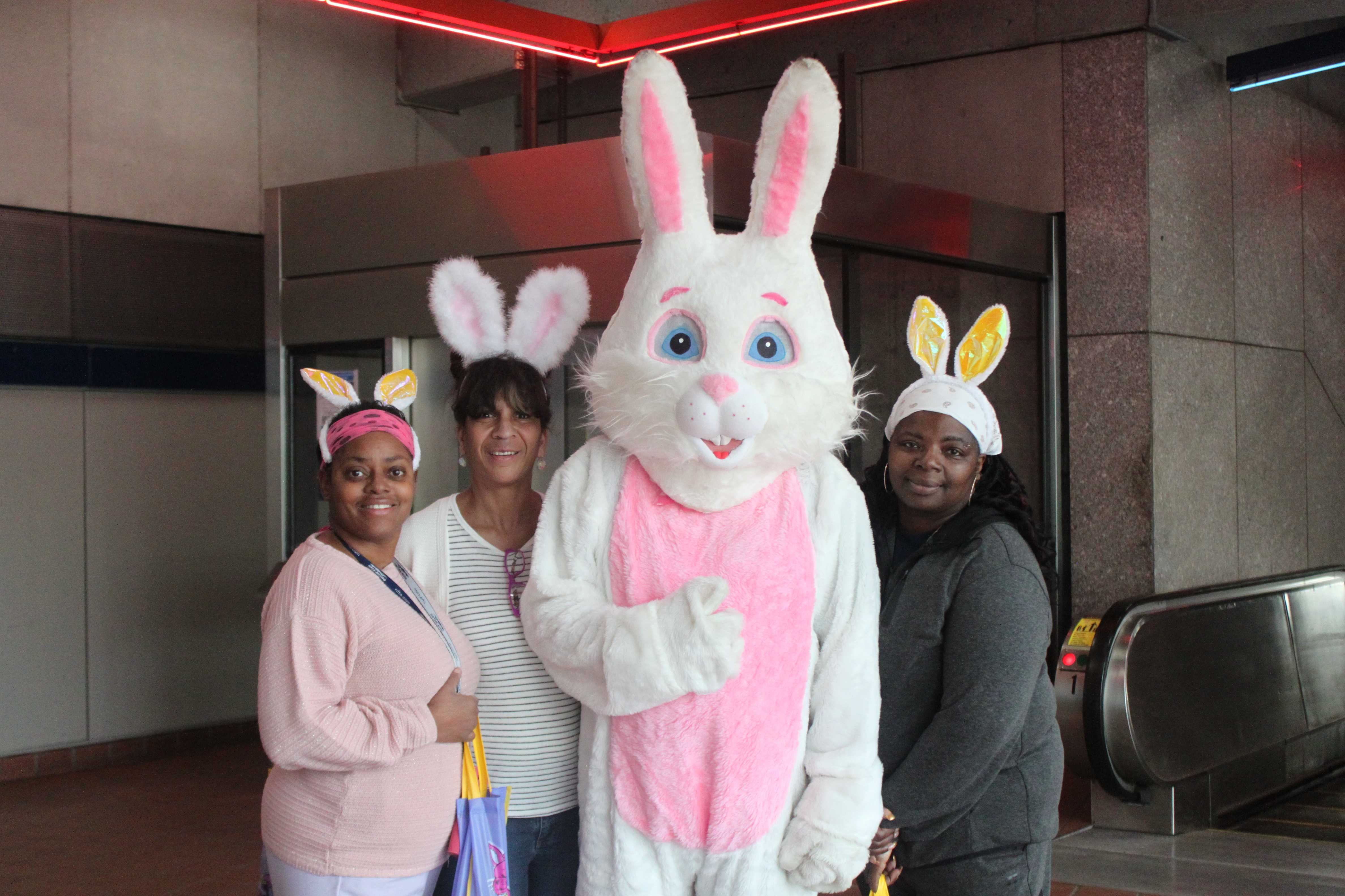 Easter Bunny With Metro Team (1)